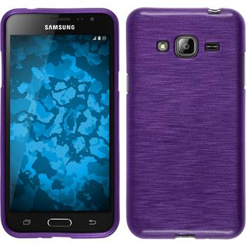 Silicone Case for Samsung Galaxy J3 brushed purple
