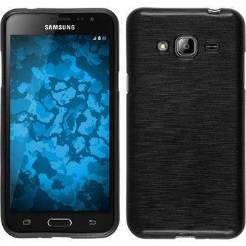 Silicone Case for Samsung Galaxy J3 brushed silver