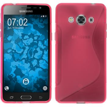 Silicone Case for Samsung Galaxy J3 Pro S-Style hot pink