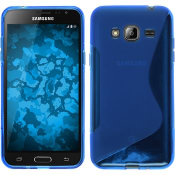 Silicone Case for Samsung Galaxy J3 S-Style blue