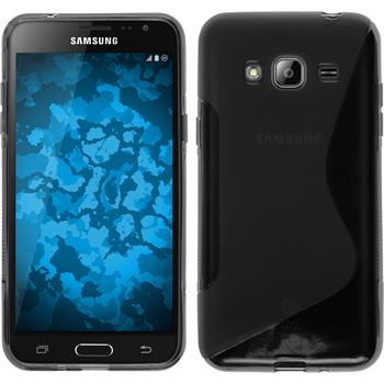 Silicone Case for Samsung Galaxy J3 S-Style gray