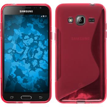 Silicone Case for Samsung Galaxy J3 S-Style hot pink