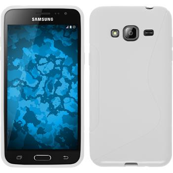Silicone Case for Samsung Galaxy J3 S-Style white