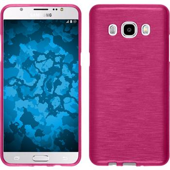 Silicone Case for Samsung Galaxy J5 (2016) brushed hot pink