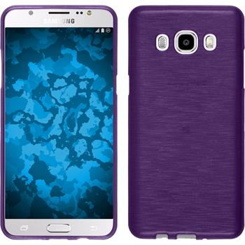 Silicone Case for Samsung Galaxy J5 (2016) brushed purple