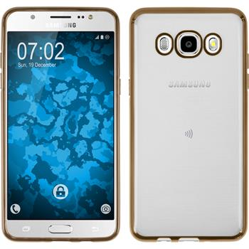 Silicone Case for Samsung Galaxy J5 (2016) J510 Slim Fit gold