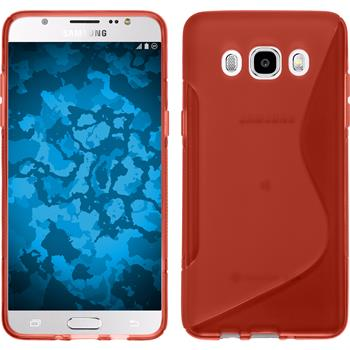 Silicone Case for Samsung Galaxy J5 (2016) S-Style red