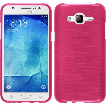 Silicone Case for Samsung Galaxy J5 (J500) brushed hot pink