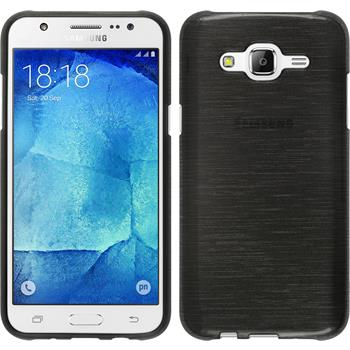 Silicone Case for Samsung Galaxy J5 (J500) brushed silver