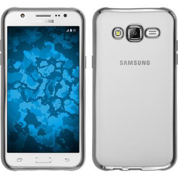 Silicone Case for Samsung Galaxy J5 (J500) Slim Fit silver