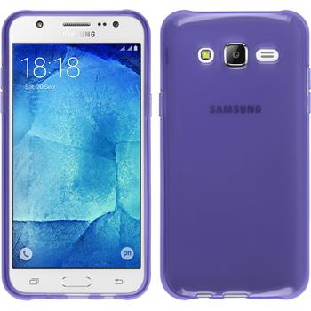 Silicone Case for Samsung Galaxy J5 (J500) transparent purple