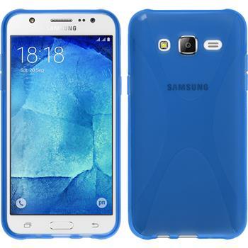 Silicone Case for Samsung Galaxy J5 (J500) X-Style blue