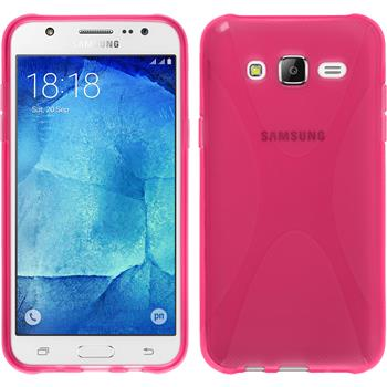 Silicone Case for Samsung Galaxy J5 (J500) X-Style hot pink