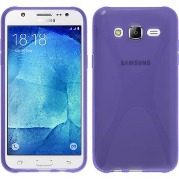 Silicone Case for Samsung Galaxy J5 (J500) X-Style purple