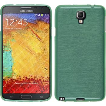 Silicone Case for Samsung Galaxy Note 3 Neo brushed green