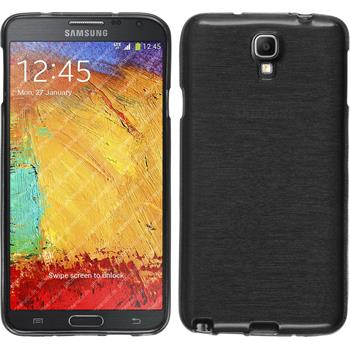 Silicone Case for Samsung Galaxy Note 3 Neo brushed silver