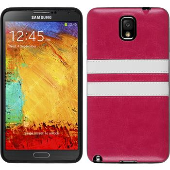 Silicone Case for Samsung Galaxy Note 3 Stripes pink