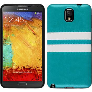 Silicone Case for Samsung Galaxy Note 3 Stripes turquoise