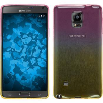 Silicone Case for Samsung Galaxy Note 4 Ombrè Design:01