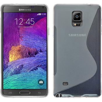 Silicone Case for Samsung Galaxy Note 4 S-Style transparent