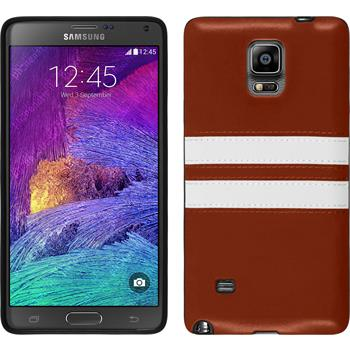 Silicone Case for Samsung Galaxy Note 4 Stripes brown