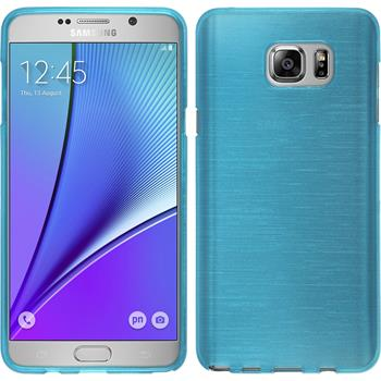 Silicone Case for Samsung Galaxy Note 5 brushed blue