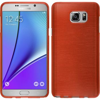Silicone Case for Samsung Galaxy Note 5 brushed red