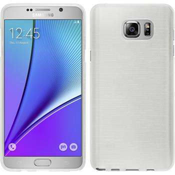 Silicone Case for Samsung Galaxy Note 5 brushed white