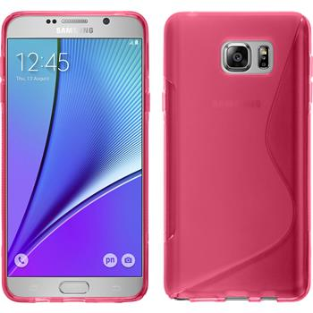 Silicone Case for Samsung Galaxy Note 5 S-Style hot pink