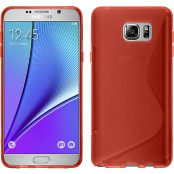 Silicone Case for Samsung Galaxy Note 5 S-Style red