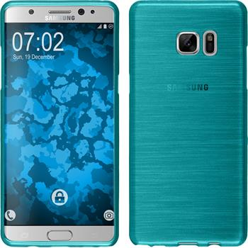Silicone Case for Samsung Galaxy Note 7 brushed blue