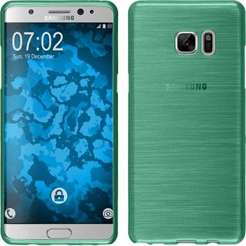 Silicone Case for Samsung Galaxy Note 7 brushed green