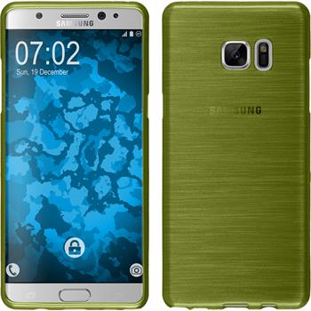 Silicone Case for Samsung Galaxy Note 7 brushed pastel green