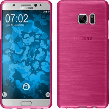 Silicone Case for Samsung Galaxy Note 7 brushed pink