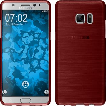 Silicone Case for Samsung Galaxy Note 7 brushed red
