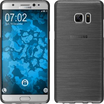 Silicone Case for Samsung Galaxy Note 7 brushed silver