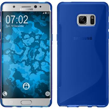 Silicone Case for Samsung Galaxy Note 7 S-Style blue