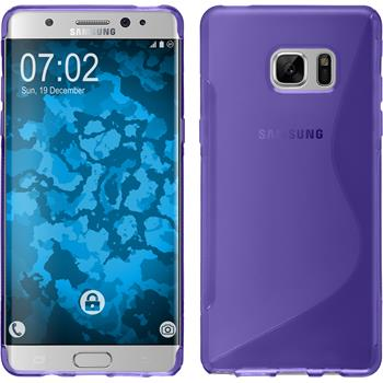Silicone Case for Samsung Galaxy Note 7 S-Style purple