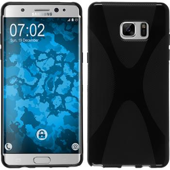 Silicone Case for Samsung Galaxy Note 7 X-Style black