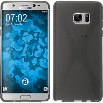 Silicone Case for Samsung Galaxy Note 7 X-Style gray