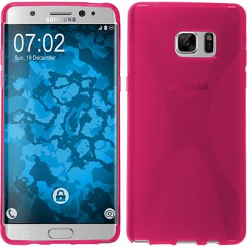Silicone Case for Samsung Galaxy Note 7 X-Style hot pink