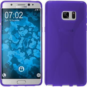 Silicone Case for Samsung Galaxy Note 7 X-Style purple