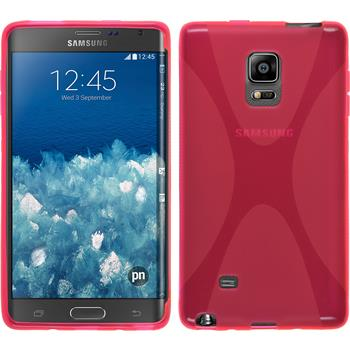 Silicone Case for Samsung Galaxy Note Edge X-Style hot pink