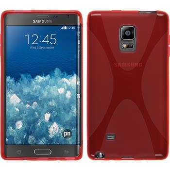 Silicone Case for Samsung Galaxy Note Edge X-Style red