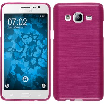 Silicone Case for Samsung Galaxy On5 brushed hot pink