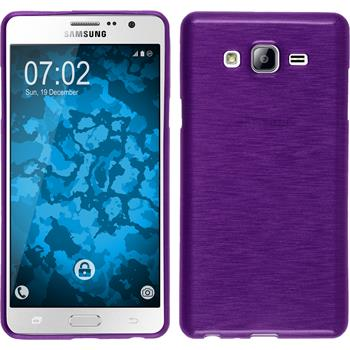 Silicone Case for Samsung Galaxy On7 brushed purple