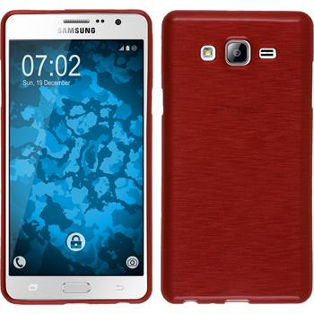 Silicone Case for Samsung Galaxy On7 brushed red
