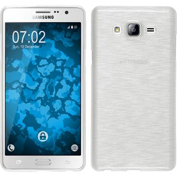 Silicone Case for Samsung Galaxy On7 brushed white