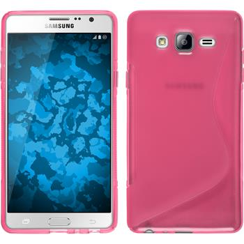 Silicone Case for Samsung Galaxy On7 S-Style hot pink