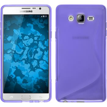 Silicone Case for Samsung Galaxy On7 S-Style purple